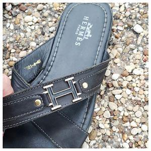 Hermes Signature Leather Sandals